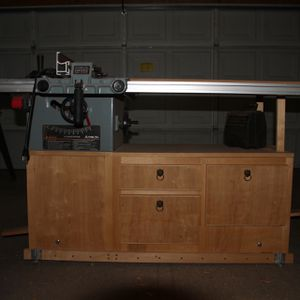 """Delta 10"""" Contractor Saw With Custom Cabinet for Sale in Albuquerque, NM"""