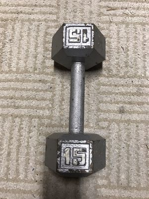 Hex dumbbell 15lbs (single) for Sale in Sammamish, WA