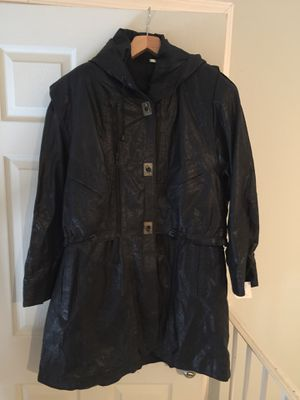 Leather coat hood removable vest size L for Sale in Lincolnia, VA