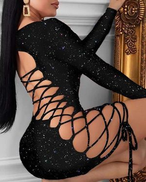 Black lace-up dress for Sale in Orlando, FL