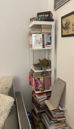 Bookcase tall, white for Sale in New York, NY