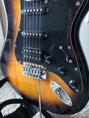 Fender Squire Guitar with 15G Amp for Sale in Pittsburgh, PA