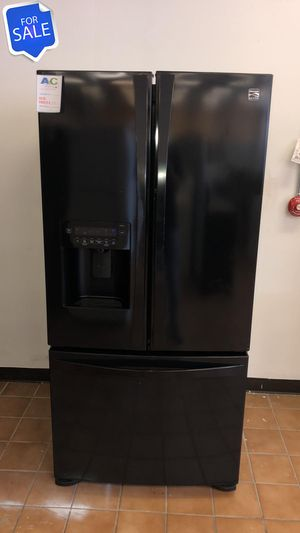 NO CREDIT!! Kenmore CONTACT TODAY! Refrigerator Fridge Black #1470 for Sale in Pasadena, MD