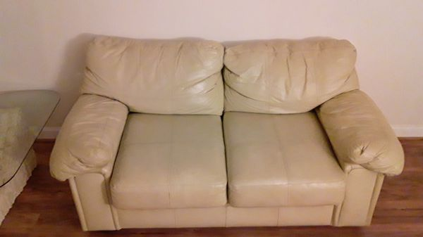 Leather Couch & Ottoman Priced To Sell
