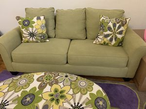 Sofa Set, Ottoman and chair, Rug in excellent condition for Sale in Carrollton, TX