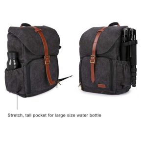 BAGSMART CAMERA BACKPACK, ANTI-THEFT DSLR SLR CAMERA BAG WATER RESISTANT CANVAS BACKPACK FIT UP TO 38CM LAPTOP WITH RAIN COVER TRIPOD HOLDER for Sale in Bakersfield, CA