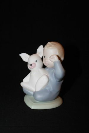 Lladro Golden Memories Young Child With Rabbit Toy Porcelain Figurine for Sale in Portland, OR