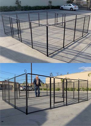 """New 40"""" Tall x 32"""" Wide Panel Heavy Duty 16 Panels Dog Playpen Pet Safety Fence Adjustable Shape and Space for Sale in Whittier, CA"""