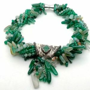 20'' 7 Strands Green Blue Agate Necklace for Sale in Brooksville, FL