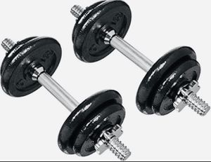 Metal adjustable dumbbell set 40 lb total for Sale in Davie, FL