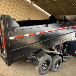 Dump TrailerHD 8x14x4 drop board 14000lb gvw $8500 cash not finance for Sale in Whittier, CA