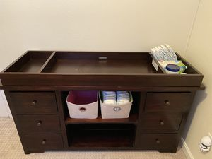 Changing table - real wood for Sale in Huntington Beach, CA
