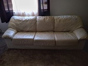 White leather couch and chair for Sale in St. Louis, MO