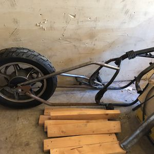 Kawasaki 650 project hard tail plus parts bike plus extra cb550 motor for Sale in Portland, OR