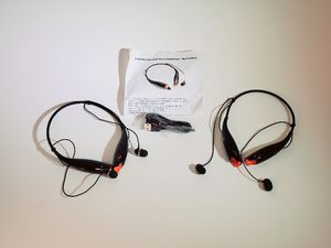 Lot of 2 Bluetooth 3.0 Wireless Sports Edition Stereo Headphones Black for Sale in Phoenix, AZ