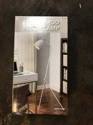 Task tripod Floor Lamp White Brand New for Sale in Tacoma, WA