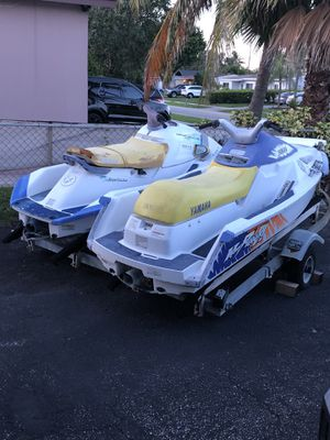 Two Jetskis and Double Trailer for Sale in Pompano Beach, FL