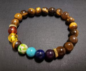 **NATURAL STONE - 7 chakra healing Tiger Eye Bracelet (Block & remove negative energy, healing, Decision & $$ Making, Calm emotions ) for Sale in Rancho Cucamonga, CA
