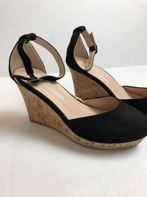 Classic Black Cork Heel Wedges for Sale in South Jordan, UT