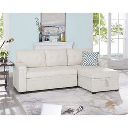 Cream Sleeper Sofa With Storage for Sale in Washington,  DC