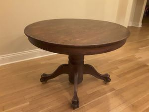 Solid oak 1890's antique claw foot table. for Sale in Houston, TX
