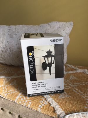 Wall lantern, outdoor kit - NEVER USED for Sale in Charlotte, NC