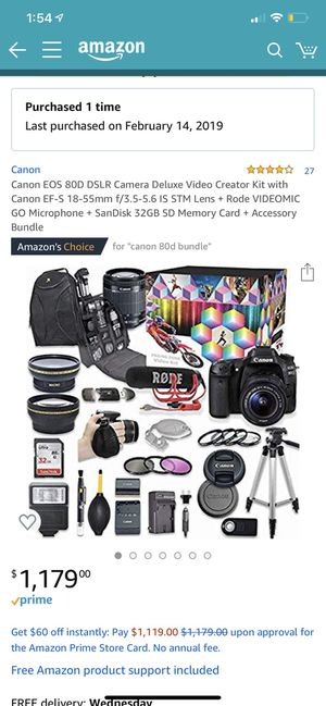 Canon 80D for Sale in Los Angeles, CA