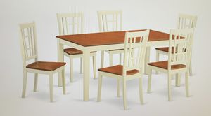 7-Piece Dining Table Set, Buttermilk/Cherry Finish- $400 MUST GO!!! for Sale in San Pedro, CA