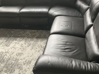 Italian Leather Sofa With Power Reclining for Sale in Chamblee,  GA