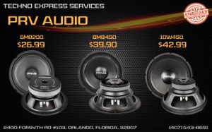 BRAND NEW PRV SPEAKERS DEALS!! 10% DISCOUNT ON ALL ORDERS PAID WITH CASH! for Sale in Orlando, FL