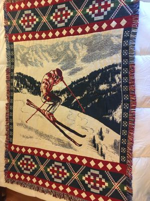 "New without tags ski throw/afghan 47""x69"" for Sale in Longmeadow, MA"