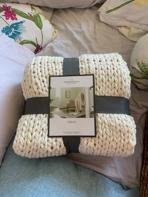 Threshold cream throw blanket for Sale in Concord, CA