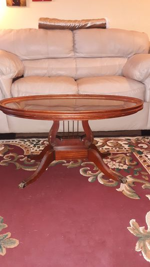 1930'S MERSMAN MAHOGANY LYRE HARP COFFEE TABLE (See all 6 pics) & Matching Side End Table (not pictured, also $45) for Sale in Whitehall, OH