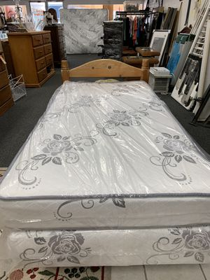 NEW TWIN BED and frame. Used headboard for Sale in Tulare, CA