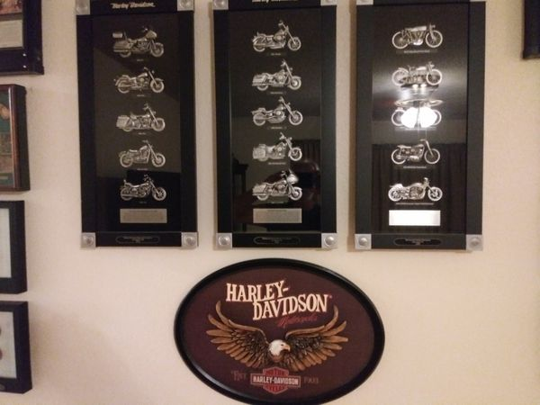 Harley Davidson shadow boxes complete set