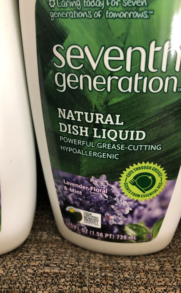 Not available 5 Bottles of Seven Generation Dish Liquid. Please see all the pictures and read the description