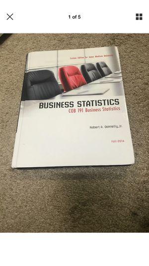 Business Statistics Textbook for Sale in Harrisonburg, VA