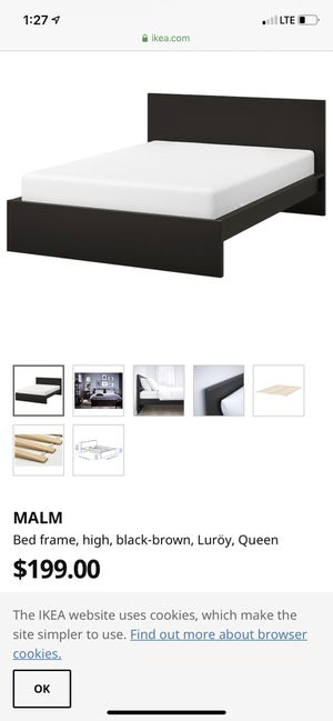 Queen bed frame from ikea for Sale in Cypress Gardens, FL