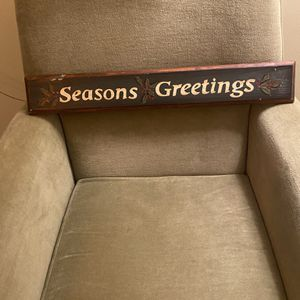 Christmas Wood Seasons Greetngs Sign for Sale in Suffolk, VA