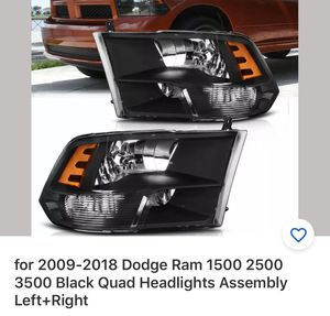 Dodge Black quad headlights assembly left and right for Sale in Davenport, FL