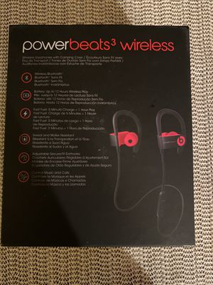 Beats by Dr. Dre Powerbeats3 Wireless Ear-Hook Headphones - Siren Red for Sale in Pacifica, CA