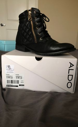 Aldo Size 10 Black Combat Boots for Sale in Sanford, FL