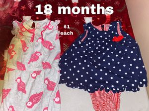 18 mon romper and onesie for Sale in Buena Park, CA