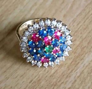 Vintage 14KGE Genuine Multi Stones Ring Size 5.75 for Sale in Las Vegas, NV