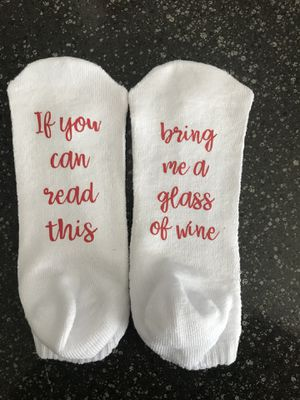 Socks - if you can read this bring me a glass of wine for Sale in Queen Creek, AZ