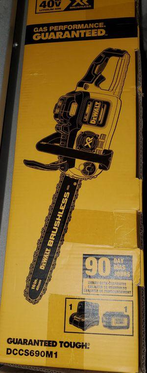 Dewalt 40V MAX XR Brushless 16 in. Chainsaw for Sale in Burlington, NJ