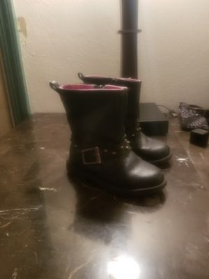 Black leather boots Size: girls 8 for Sale in Monroeville, PA