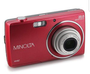 """Minolta 20 Mega Pixels Digital Camera, 5X Optical Zoom & HD Video with 2.7"""" LCD, Red (MN5Z-R) for Sale in New York, NY"""