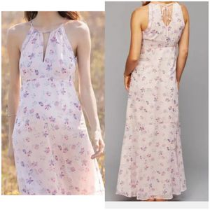 Pink Floral Print Maxi Dress by A Pea in the Pod sz Med for Sale in San Francisco, CA