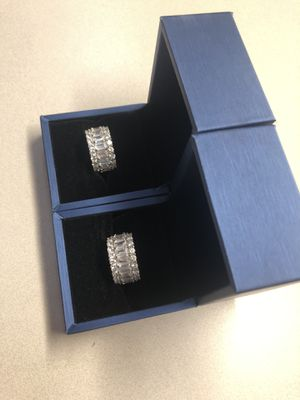 Sterling silver White sapphire infinity rings set for Sale in Plano, TX